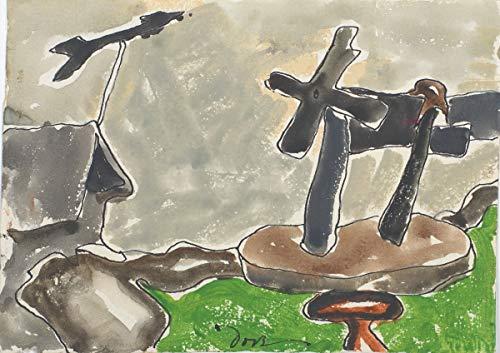 Berkin Arts Arthur Dove Giclee Auf Leinwand drucken-Berühmte Gemälde Kunst Poster-Reproduktion Wand Dekoration(Windrad Recto; Landschaft mit Wetterfahne Verso) Große größe 80 x 56.5cm