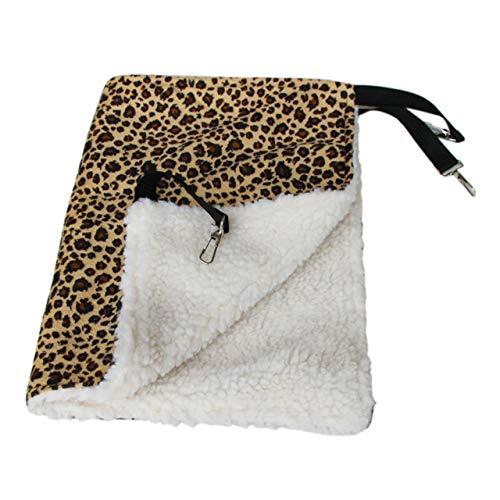 Jasnyfall Hangmat voor katten, zacht, voor de winter, hangmat voor katten, kooi en katten, sprei, kussen, Air Bed Pet Products (punctpatroon M in wit en zwart) L Giallo Modello Leopardo Taglia L Grande