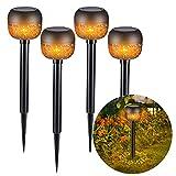 Solarleuchte für Außen,Natseekgo 4 Stück LED Solar Laterne für Draußen mit IP65 Wasserdicht,Decorative Solarlampe für Außen Garten Terrasse Hof,Solarlampen Aussen Hängend [Energieklasse A++]