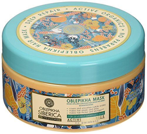 Natura Siberica Professional Oblepikha Deep Repair Hair Mask for Severely Damaged Hair, 300 ml