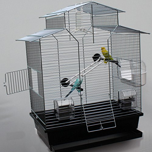 Heimtiercenter Vogelkäfig,Wellensittichkäfig,Exotenkäfig,60 cm Vogelkäfig Vogelbauer Wellensittich Kanarien Voliere Vogelhaus Käfig IZA 2 II schwarz
