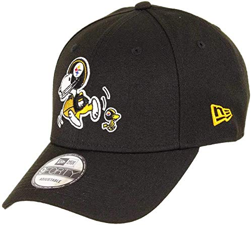 New Era - NFL Pittsburgh Steelers Peanuts 9Forty Strapback Cap - Schwarz Größe One Size, Farbe Schwarz