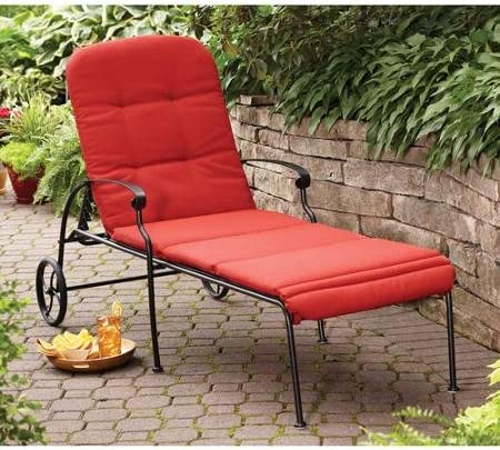 Best Better Homes and Gardens Clayton Court Chaise Lounge with Wheels, Red