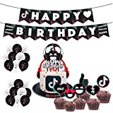 Decoraciones de Fiesta TIK Tok 1 Bobina 1 Inserto de Pastel de vibrato 2 Tipos de Diez Globos de látex vibrato Cada uno Uso para Fiestas de cumpleaños fotografía de Productos