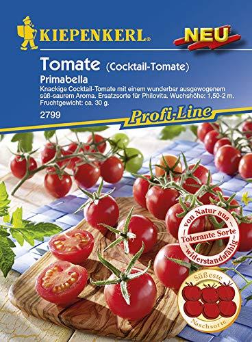 Kiepenkerl Saatgut, Tomaten Primabella, Inhalt: 10 Korn, knackigen Cocktailtomaten mit Fruchtgewicht von ca. 30g, süßsaures Aroma