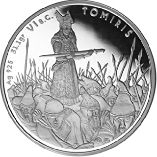 2010 KZ 2010 Kazakhstan 2010 - 100 Tenge - Great Commanders - Tomyris - 1oz LIMITED Silver Coin - Silver Coin - $2 Uncirculated BM