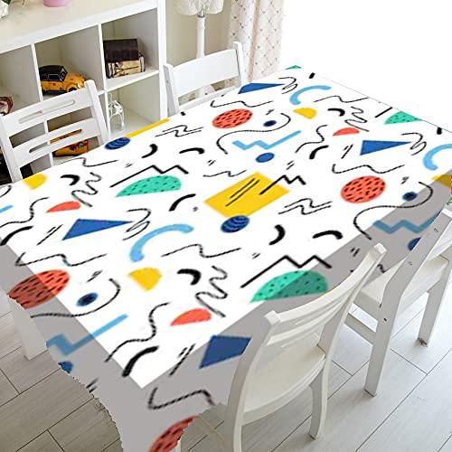 Simple Noir Blanc Abstrait géométrique décor à la Maison Nordique rétro Doodle nappes imprimé Nappe Table à Manger Couverture A1 140x200 cm