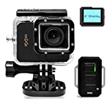 Pyle Expo Sports Action Camera - HD 1080P Mini Hi-Res Camcorder w/ Wifi, 20 MP Cam, 2' Screen USB SD Card HDMI, Battery - Waterproof Case, USB Cable, Wireless Remote Control, Mount - PSCHD90BK (Black)