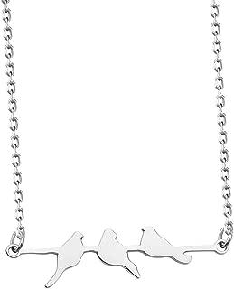 Bird Necklace Birds on a Branch Necklace Three Little Birds Inspired Love Bird Jewelry