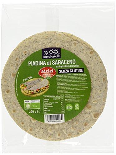 Sottolestelle Piadina senza Glutine al Saraceno - 10 confezioni da 200gr - Totale 2 kg