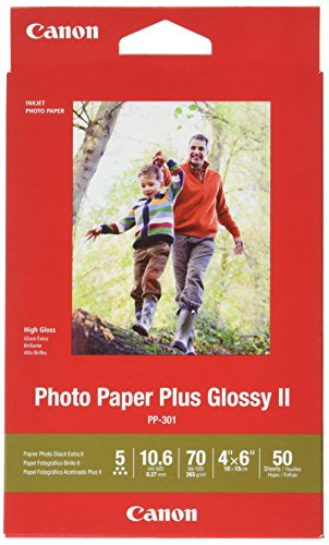 """Canon Glossy Photo Paper Plus II, 4""""x6""""(50 Sheets)"""