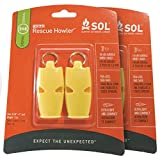 S.O.L. Survive Outdoors Longer S.O.L. Rescue Howler Whistle, 2 ct (Pack of 2)