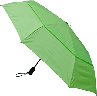 COLLAR AND CUFFS LONDON - Windproof - COMPACT YET STRONG - Small Folding Umbrella - Vented Canopy - Auto Open Close Lime Green