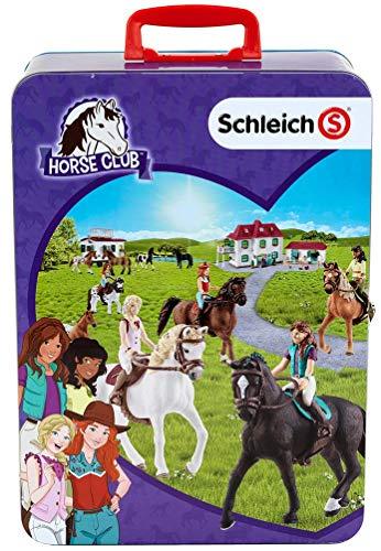 Theo Klein 3115 - SCHLEICH Horse Club Metall-Sammelkoffer, für 10 Pferde, Spielzeug