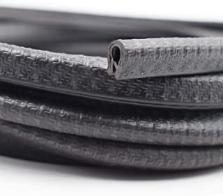 "KX Edge Trim Black Small, 1/8"" Fits Edge, PVC Plastic Edge Trim U Shape Black Large Edge Protector (10 Feet)"