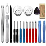 subtel Kit 18-Piezas reparación móviles, con 2 x Destornilladores Pentalobe, 4 x Destornilladores TORX, Pinzas & más | Herramientas para la reparación de móviles