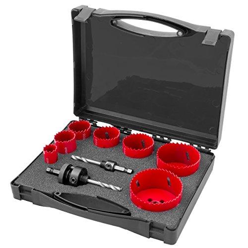 Proteco-herramienta sierra HSS Bi-metal Lochsöge juego de sierras de corona 11 teilig brocas corona de perforación kit 68 82