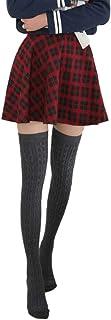 Ourine, mujeres chica sobre la rodilla calcetines altos pierna invierno cálido calentador tejido muslo suave calcetines largos altos medias