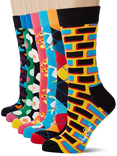 Happy Socks Damen 7-Day Gift Box Socken, Mehrfarbig (Multicolour 010), 4/7 (Herstellergröße: 36-40)
