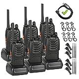PMR set radio bidirezionale Walkie Talkie 16 canali batteria ricaricabile 1500mAh radio portatile con auricolare, senza licenza (6 pezzi)