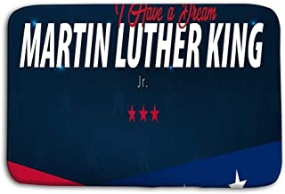Jieifeosnnxz Doormat Indoor Outdoor Martin Luther King Day Background i Have Dream Vector Illustration mat