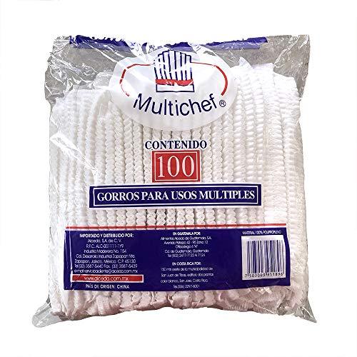 Cofia tipo gusano Multichef de 100 pzas