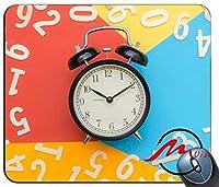 ZMvise目覚まし時計パターンファッション漫画マウスパッドマットカスタム四角形ゲームマウスパッド