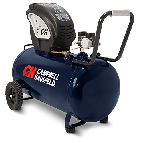 Air Compressor, Portable, Horizontal, 20 Gallon, Oil-Free, 4 CFM @ 90 PSI, 150 PSI (Campbell Hausfeld DC200000)