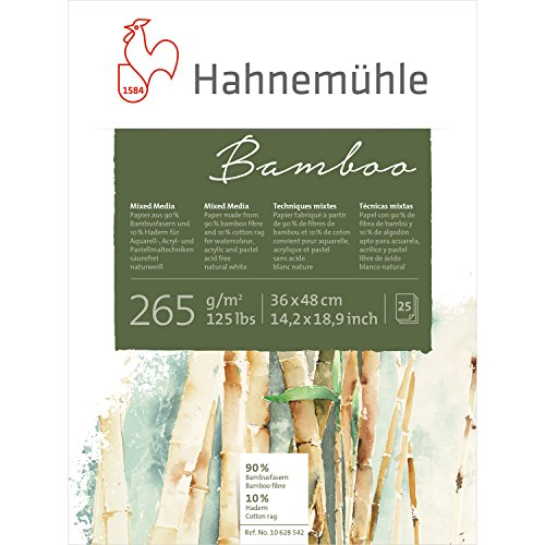 Mixed Media Block Bamboo 265g/m², 36x48cm, 25Blatt