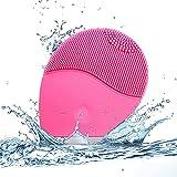 Cepillo de limpieza facial ultrasónico eléctrico, masajeador facial impermeable de silicona para el manejo de cutinas y poros, masajeador de cuidado de la piel recargable para todo tipo de piel