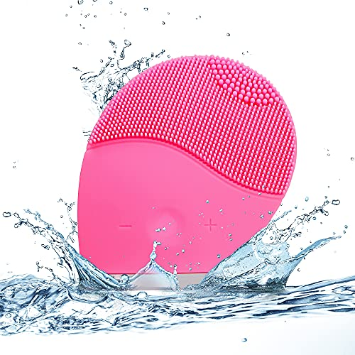 Spazzola per la pulizia del viso ad ultrasuoni Massaggiatore elettrico per il viso impermeabile in silicone per la gestione di cutine e pori, massaggiatore per la cura della pelle ricaricabile