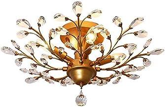 Ganeed Crystal Chandeliers,K9 Crystal LED Ceiling Light,Vintage Light Fixtures Pendant Lighting for Living Room Bedroom Re...