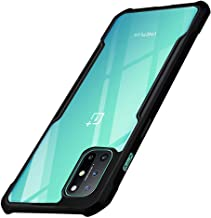 TheGiftKart Shockproof Crystal Clear Transparent Back Cover Case for OnePlus 8T | 360 Degree Protection | Protective Design (Black Bumper)