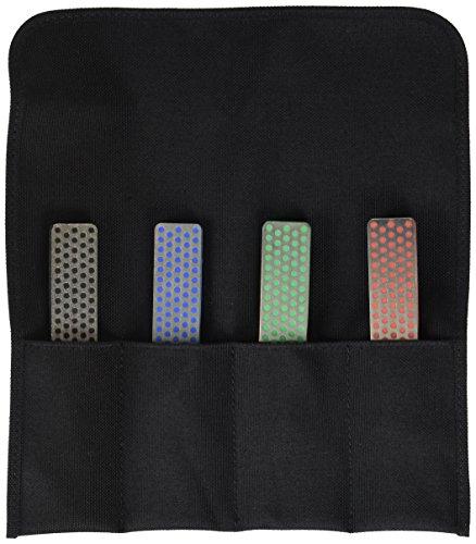 10,2 cm diamant slijpsteen Deluxe Kit van 4 gesorteerd pocket model puntenslijper