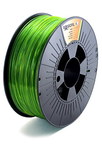 BASICFIL PET 1.75mm 1 kg, TRANSPARENTES GRÜN (tr green), 3D Drucker Filament