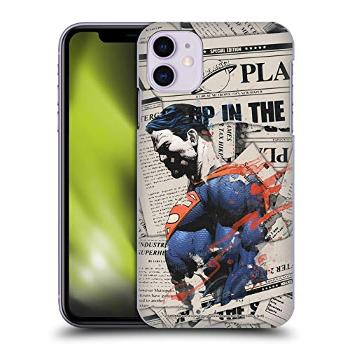 Head Case Designs Officially Licensed Superman DC Comics Newspaper 80th Anniversary Hard Back Case Compatible with Apple iPhone 11