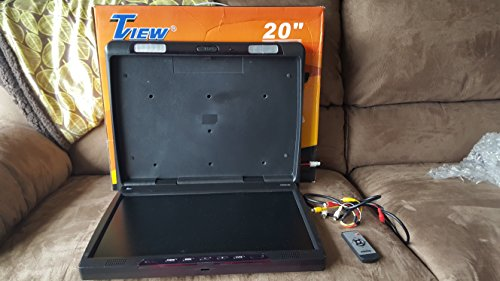 Tview T206ir 20 Inch Thin Tft Flip Down Ceiling-Mount Car/Truck Monitor with Twin Dome Lights
