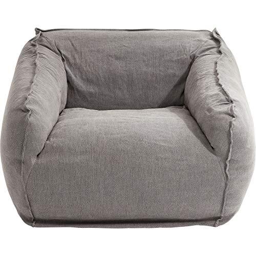 Kare Design Sessel Fjord, grauer Sessel aus Canvas mit Armlehnen, Hussen-Sessel für das Wohnzimmer, 44cm Sitzhöhe