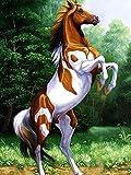 Pintura de diamante caballo 5D DIY diamante bordado animales punto de cruz mosaico Kit de diamantes de imitación decoración del hogar A8 50x70cm