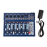 BuoQua 7 Channel Audio Mixer with 48V Phantom Power Mixing Console USB MP3