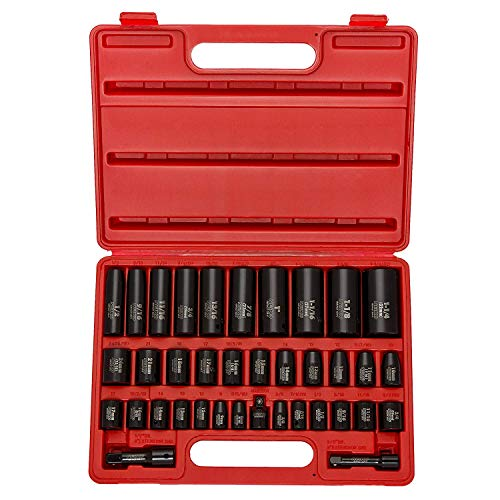 Neiko best impact sockets for the money complete socket set with carry case included