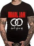 CID Men's Pearl Jam-Never Give Up T-Shirt, Black, Medium