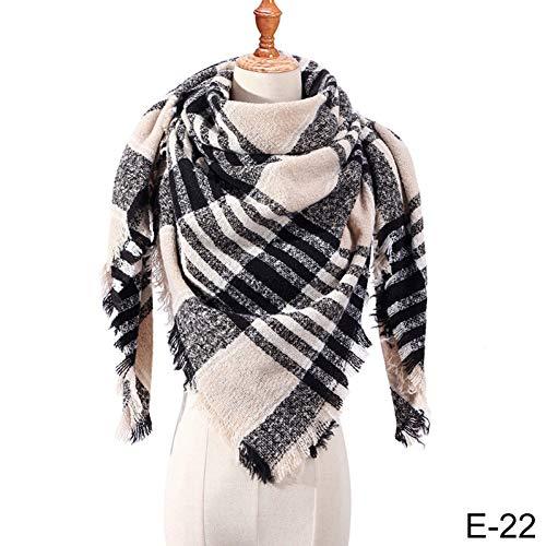 BINGSL sjaals wraps, winter sjaal voor vrouwen sjaal Plaid deken sjaal warme wrap sjaals en sjaals