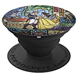 Disney Beauty And The Beast Stained Glass Window Dancing - PopSockets Grip and Stand for Phones and Tablets
