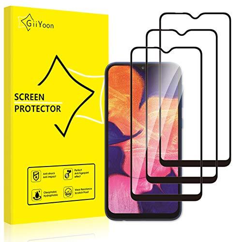 GiiYoon 3 Pack Skärmskydd för Samsung Galaxy A10 härdat glas [HD kristallklar] [enkel installation] [repbeständig] [9H hårdhet] [bubbelfri]