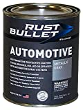 RUST BULLET Automotive - Rust Preventive Protective Coating, Rust Inhibitor Paint, UV Resistant - No Topcoat Needed (Pint, Metallic Gray)