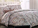 cynthia rowley Bedding 3 Piece FULL/QUEEN Duvet Cover Set - medallions floral Pattern