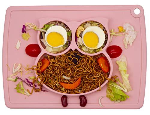 Little Kids Alimentation Alimentation Divis/é Tapis Silicone Set De Table Plaques pour Les Enfants La Plupart des Plateaux Convient Chaise Haute