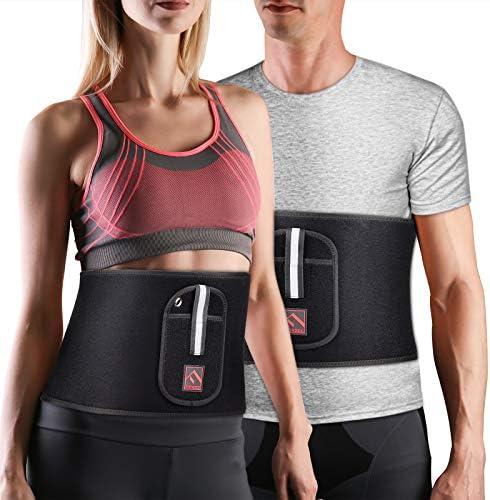 FITINDEX Waist Trimmer Belt Workout Sweat Belt Slimming Waist Trimmer and Abdominal Trainer product image