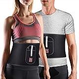 FITINDEX Waist Trimmer Belt Workout Sweat Belt, Slimming Waist Trimmer and Abdominal Trainer for Burning fat (Large)